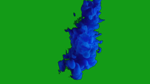Blue smoke motion graphics with green screen background Animation