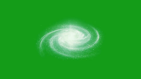 Galaxy motion graphics with green screen background Animation
