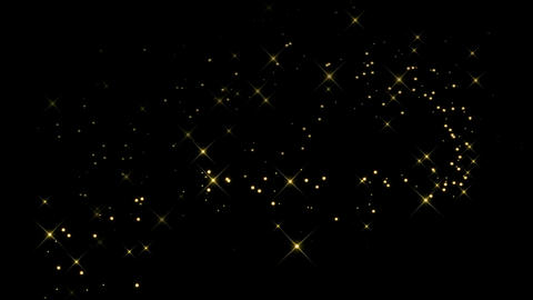 Magic golden stars motion graphics with night background Animation
