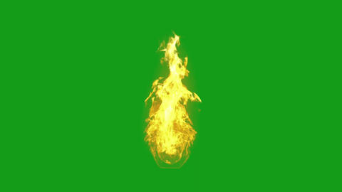 Raging fire motion graphics with green screen background Videos animados