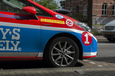 Tony's Chocolonely Company Car At Amsterdam The Netherlands 20-6-2020 フォト