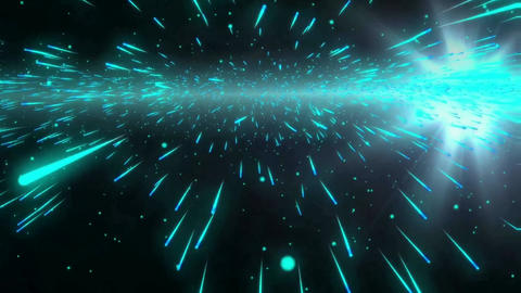 Stars though space motion graphics with night background Animation