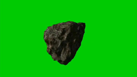 Moving asteroid motion graphics with green screen background Animation