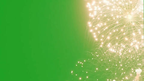 Fireworks motion graphics with green screen background Animation