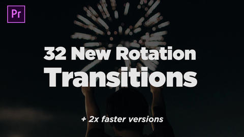 32 New Rotation Transitions Plantillas de Premiere Pro