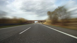 Driving on highway across Czech Republic, timelapse part 1 Footage