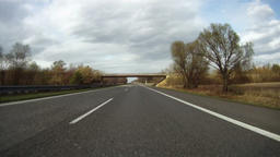 Driving on highway across Czech Republic, time lapse part 1 Footage