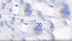 EURO bills flying Animation