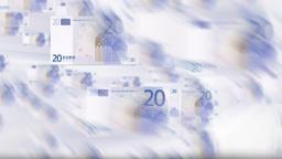 EURO bills flying Animation