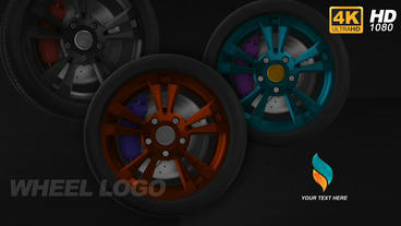 Wheel Logo Reveal 4K and Full HD After Effects Template