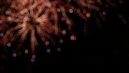 Fireworks display, blurry background 6 Footage
