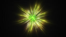 Fireworks holiday background,golden green against black Animation