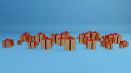 Gift Boxes, Holiday Background with Alpha Animation