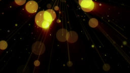 Glowing spheres, holiday background Animation