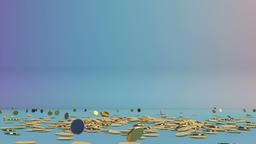 Golden coins falling, Alpha Animation
