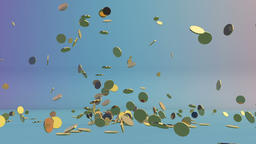 Golden coins falling Animation
