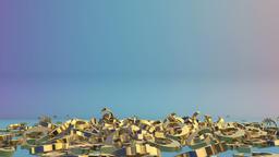 Golden EUR sign falling,Alpha Animation