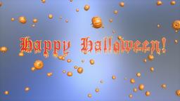 Happy Halloween and pumpkins flying, Luma Matte Animation