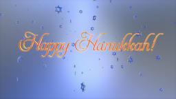 Happy Hanukkah title and star of david flying, Luma Matte Animation