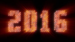 Happy New Year 2016 sign, shine Animation