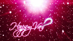 Happy Valentine, holiday background with snowflakes against red Animation