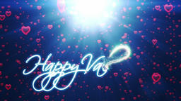 Happy Valentine, holiday background with red hearts falling Animation
