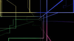 High tech colorful grid growing, network concept Animation