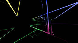 High tech colorful grid growing and rotating, network concept Animation