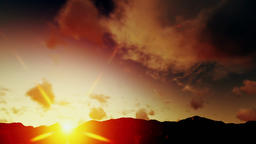 Heavenly Timelapse Clouds, Sunrise over Mountains Animation