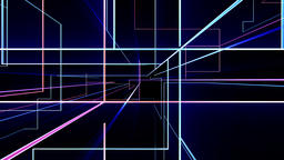 High tech grid growing, network concept, two colors Animation