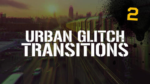 Urban Glitch Transitions Vol.2 Premiere Proエフェクトプリセット