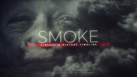 Smoke History Timeline After Effects Template
