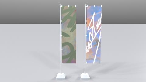 Swingflag01 3D Model
