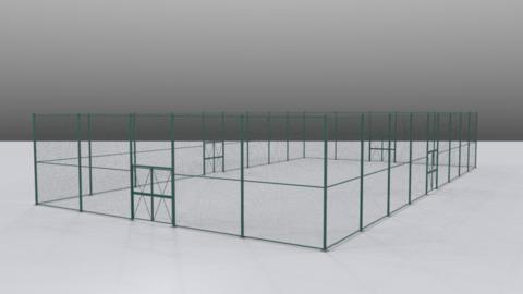 Tennis court fence set01 3D Model