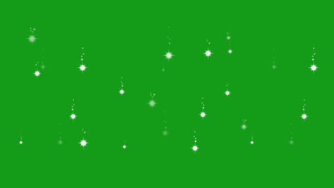 Falling stars motion graphics with green screen background Animation