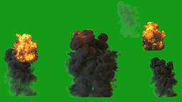 Fire blast motion graphics with green screen background Videos animados