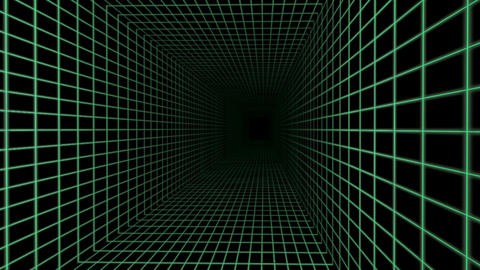 Grid lines tunnel illusion Animation
