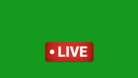 Live video symbol motion graphics with green screen background Animation