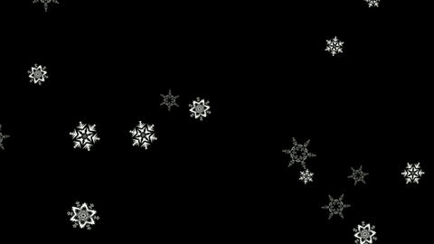 Snow flakes motion graphics with night background CG動画