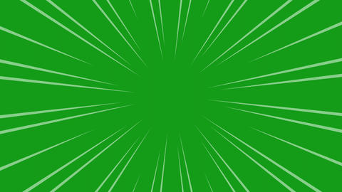 Speed lines motion graphics with green screen background Animation