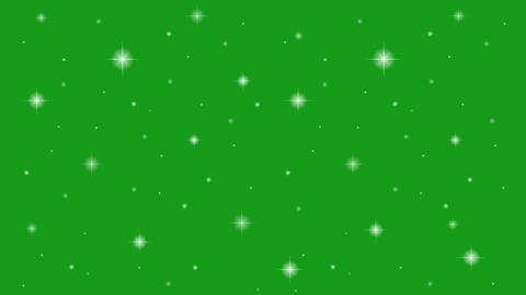 Twinkling stars motion graphics with green screen background CG動画