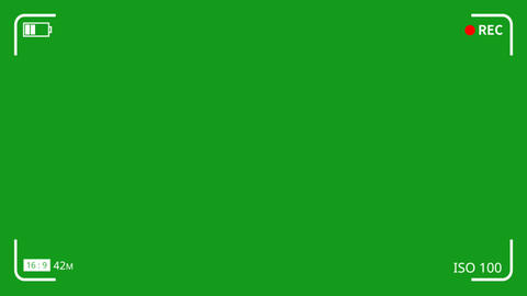 View finder motion graphics with green screen background Animation