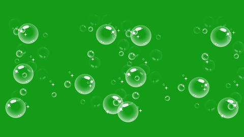 Water bubbles motion graphics with green screen background CG動画