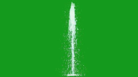 Water fountain motion graphics with green screen background CG動画