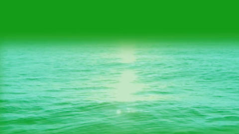 Water waves motion graphics with green screen background Animation