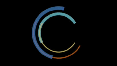Circling arcs motion graphics with night background CG動画
