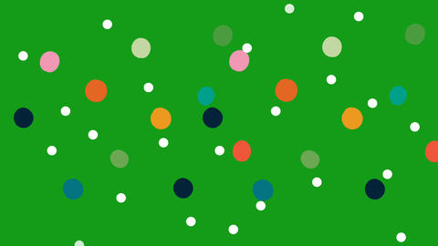 Falling colour particles motion graphics with green screen background Animation
