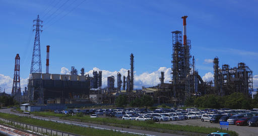 An industrial area in Yokkaichi Mie long shot Live Action