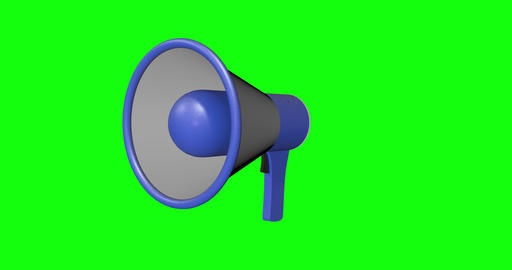 animations 3d voice megaphone green screen speaker green screen attention green screen megaphone Animation