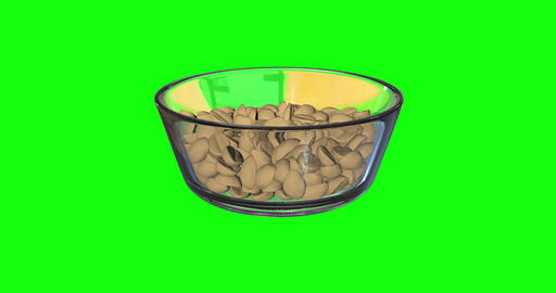 animations 3d peanuts snack appetiser snack glass bowl snack bar peanuts dried fruits appetiser Animation